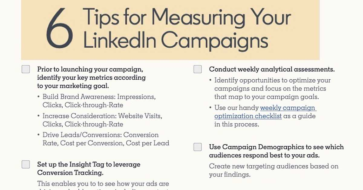 Six Tips for Measuring Your LinkedIn Ad Campaigns [Infographic]