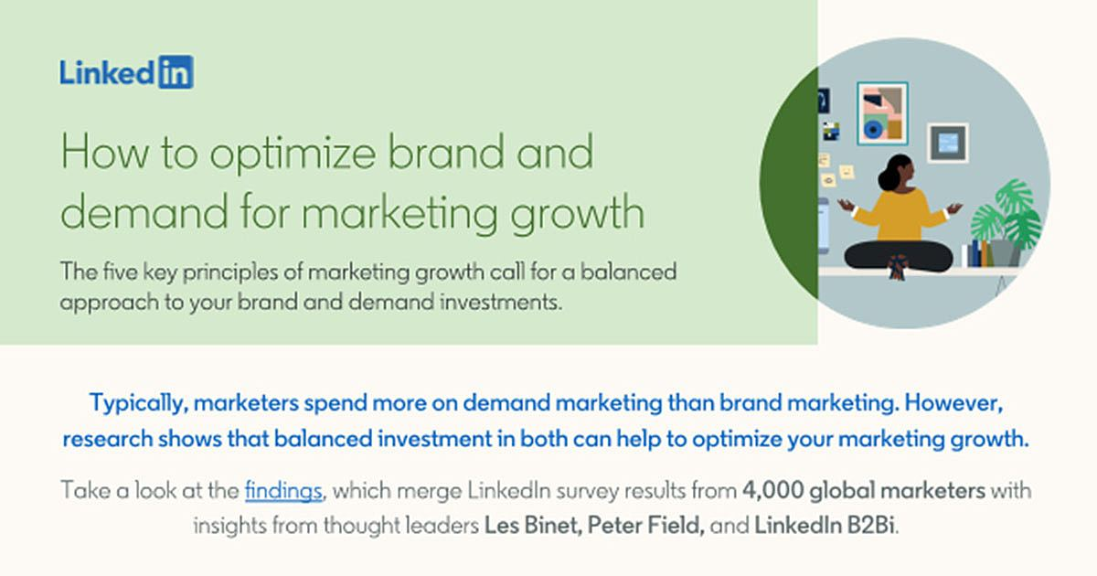 Marketing Growth: How to Optimize Brand and Demand [Infographic]