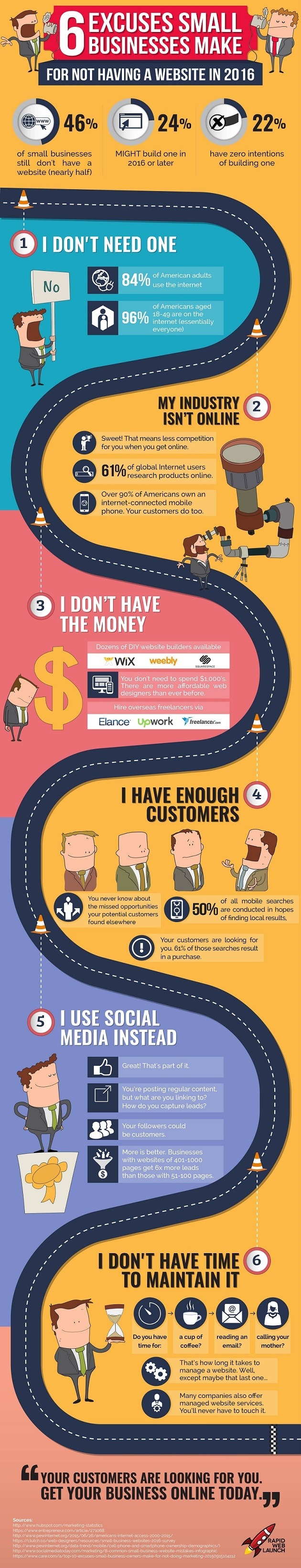 160709-six-excuses-small-businesses-make-for-not-having-a-website-infographic Six Excuses Small Businesses Make for Not Having a Website [Infographic] - InfoMark GLOBAL - Website design in Varanasi