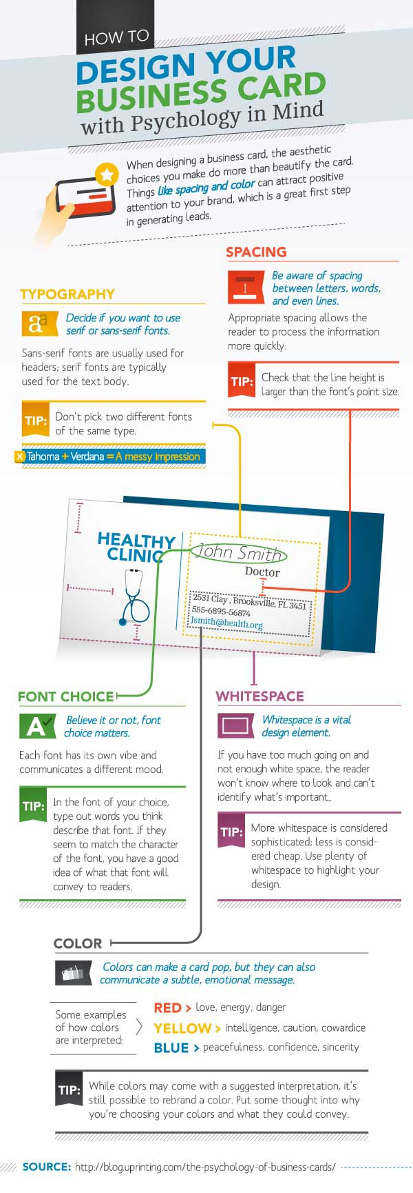 Infographic - The Psychology Of Business Cards