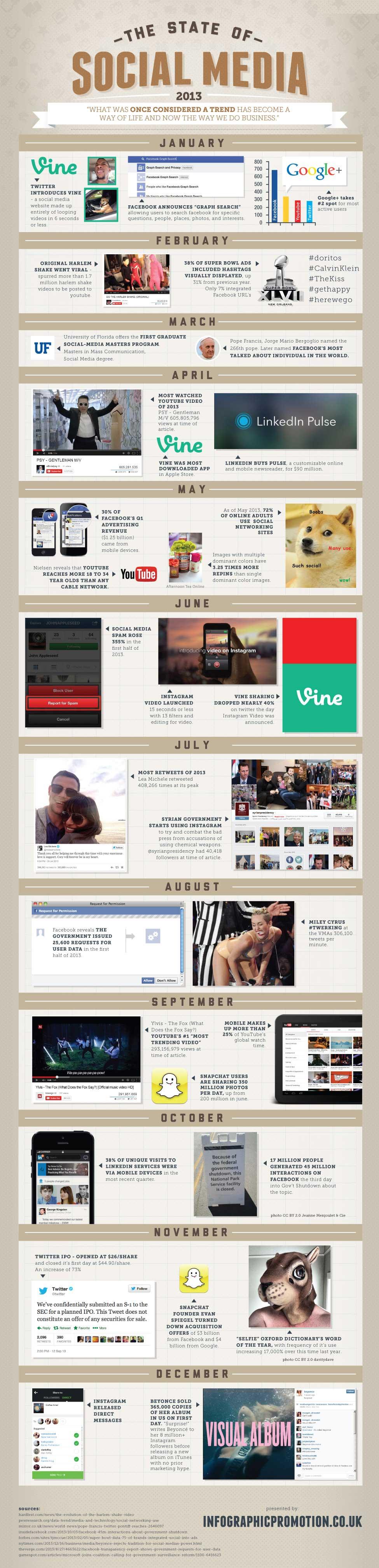Infographic - Social Media In 2013