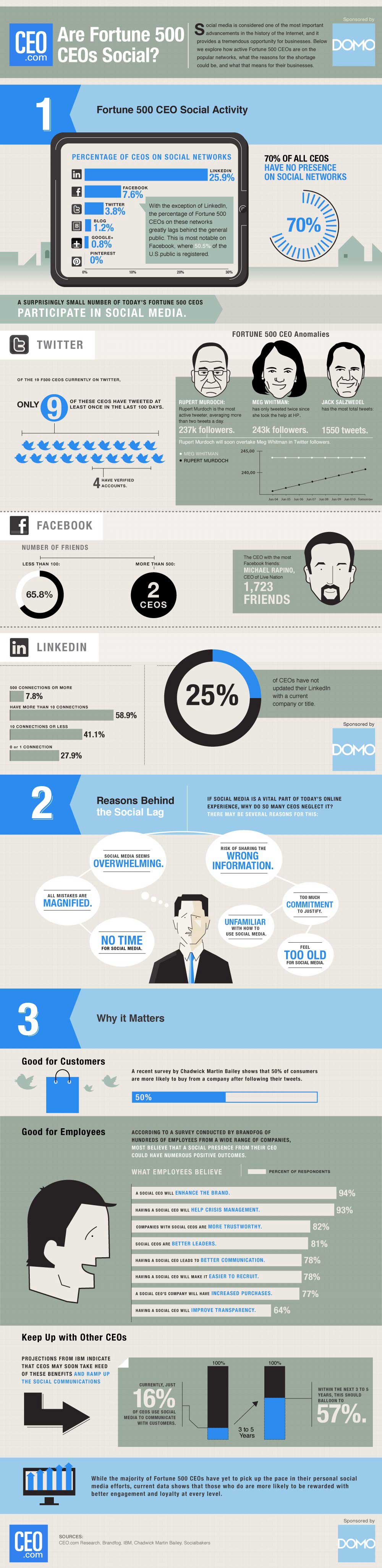 Social CEO Index infographic