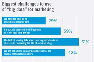 Brands Not Capturing the Benefits of Big Data Marketing