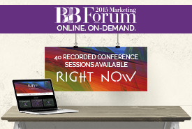Online, On-Demand Access to 40 B2B Forum Sessions. Register Now!