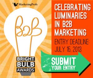 Announcing the MarketingProfs Bright Bulb B2B Awards