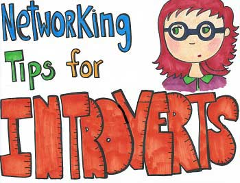 Networking Tips for Introverts and Shy Folks [Visual Sketchnotes]