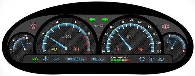 Car dashboard graphic