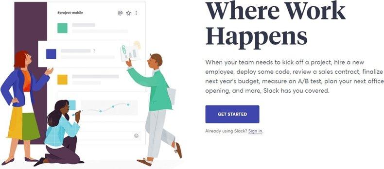 Slack advertisement graphic