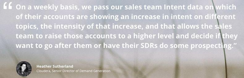 Intent Data Maximizes Marketing Budgets and Enhances Sales Performance 3