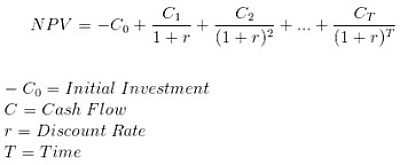 formula to calculate net present value
