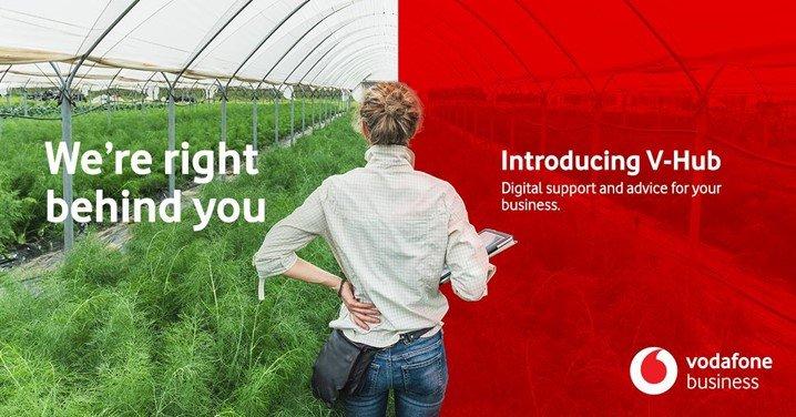 Vodafone advertisement for V-Hub