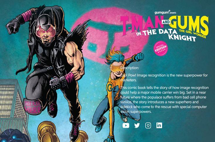 GumGum custom comic book for T-mobile