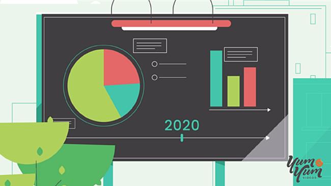 Graphic of a metrics presentation