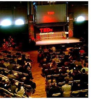 TEDxSomerville stage