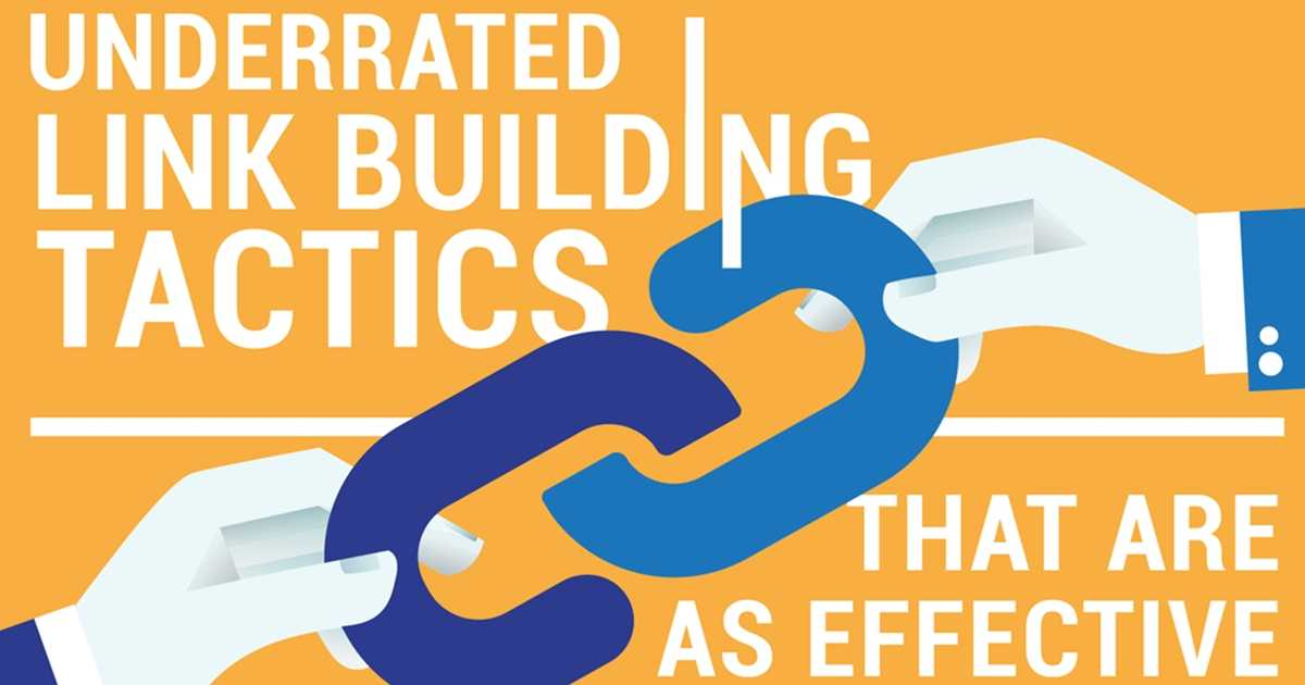 Underrated But Effective Link-Building Tactics for SEO [Infographic]