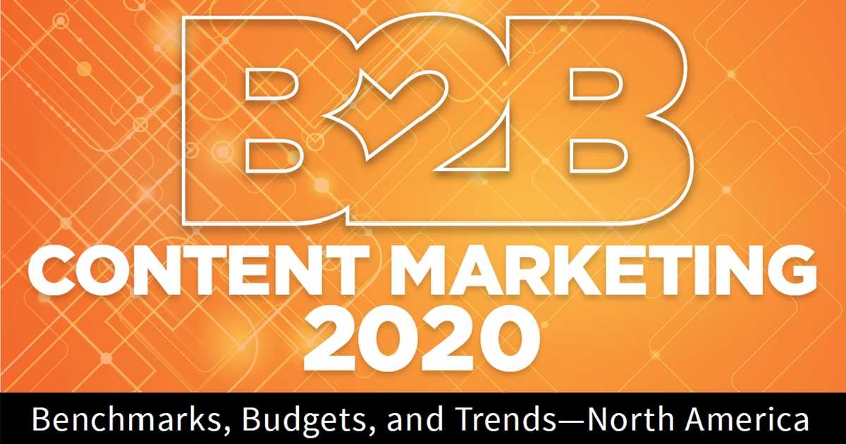 Image for 2020 B2B Content Marketing Benchmarks, Budgets, and Trends: A First Look at New Research
