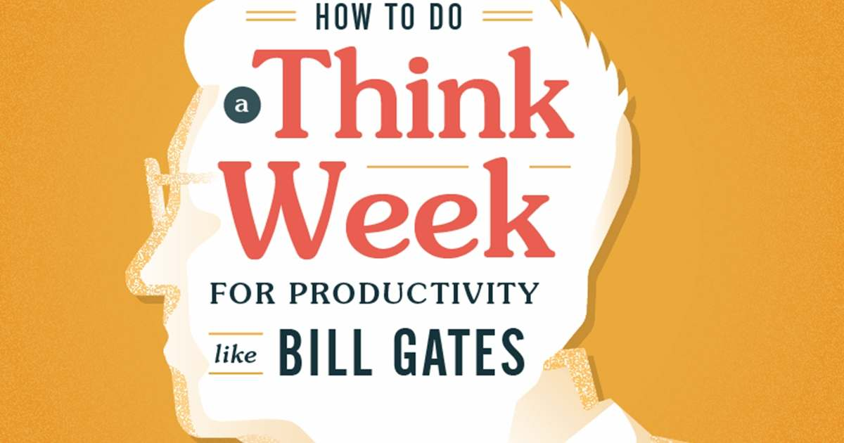 Productivity Lessons From Bill Gates: How to Do a 'Think Week' [Infographic]