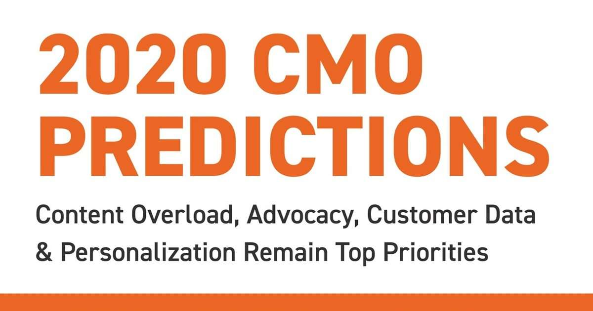 2020 CMO Predictions From Marketing Influencers [Infographic]