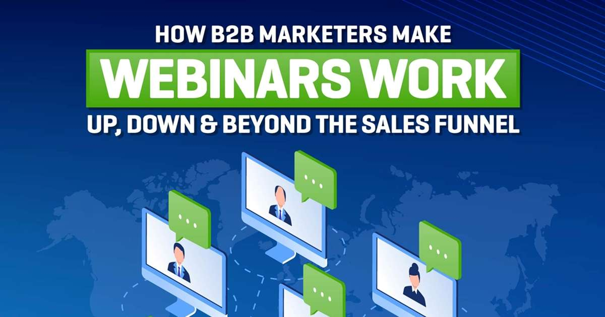 Making Webinars Work—Up, Down, and Beyond the Sales Funnel [Infographic]