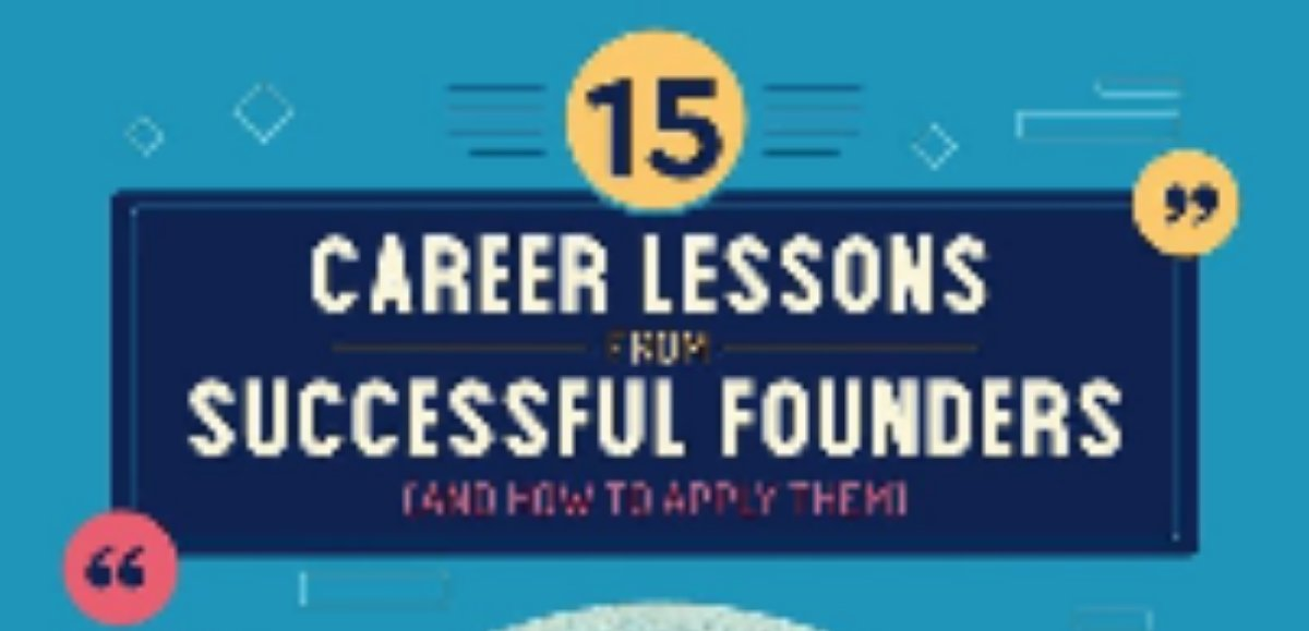 15 Career Lessons From Successful Founders [Infographic]