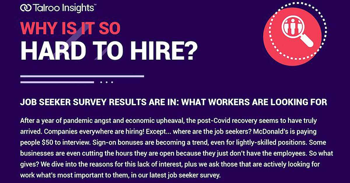 Why Job Seekers Are Not Accepting Offers [Infographic]