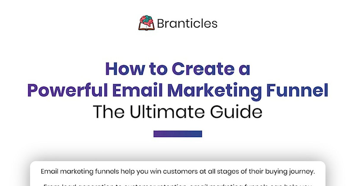 How to Create a Powerful Email Marketing Funnel [Infographic]