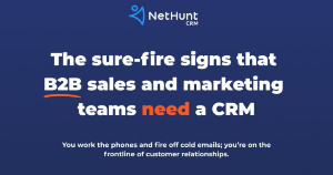 Image for 11 Signs B2B Marketing and Sales Teams Need a CRM [Infographic]
