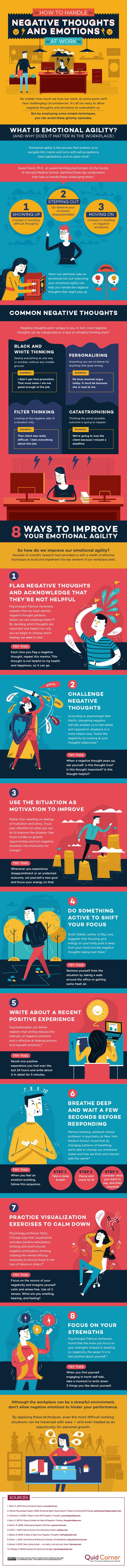 180126 infographic how to handle negative thoughts at work - How to handle negative thoughts and emotions at work