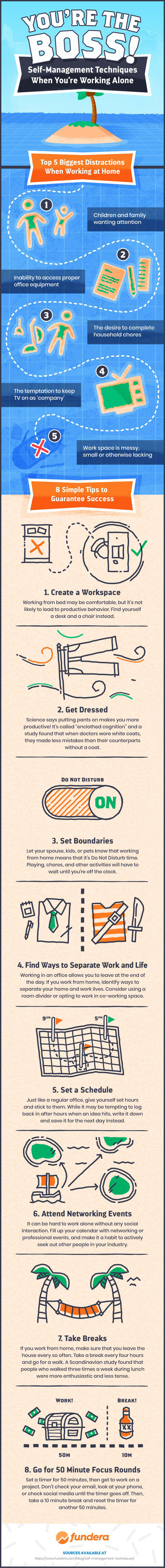 How to Stay Focused While Working From Home | Infographic
