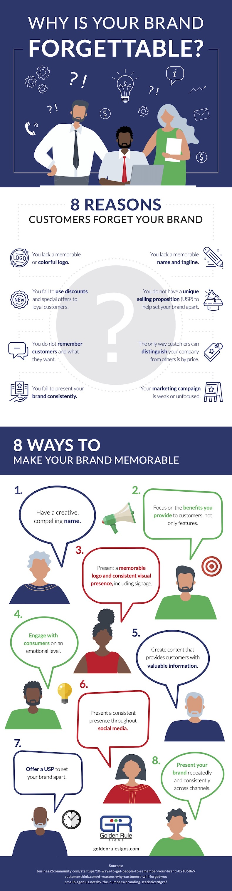 How to make your brand memorable infographic