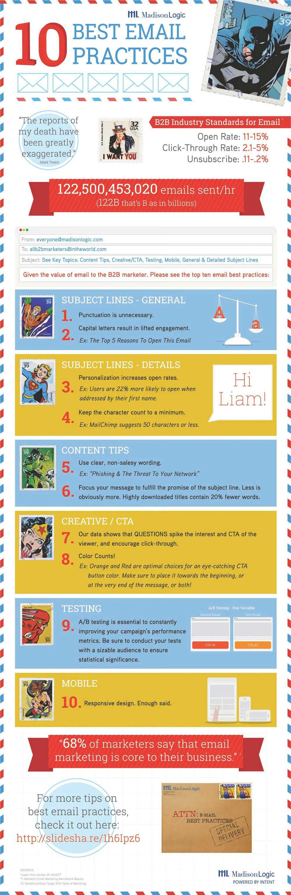 Email marketing best practices email marketing tips 10 email marketing best practices infographic pronofoot35fo Gallery