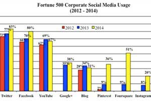 Blog and Social Media Usage by Fortune 500 Companies