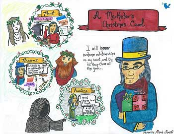 A Marketer's Christmas Carol [Infodoodle]