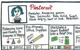 Pinterest: Making Us Feel Inferior About Our Lives Since 2010 [An Infodoodle]