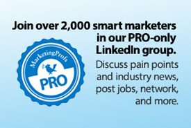 Go PRO and start networking with other smart marketers today!